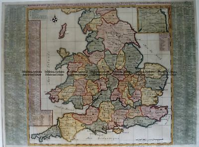 Antique Map 4-174  England and Wales by Chatelain c.1719 Britain