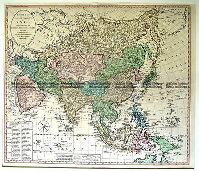 Antique Map 2-136  Asia by Bowles & Carver c.1794 Asia - Continent