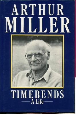 "Arthur Miller sign first edition hardback book "" Timebends a Life "" 1987"
