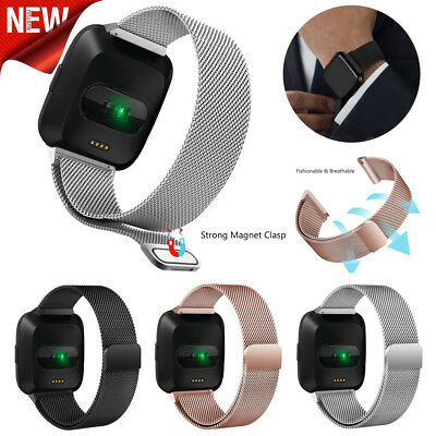 Milanese Magnetic Fashion Soft Loop Stainless Steel Band Strap For Fitbit Versa