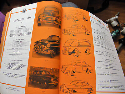 Catalogue Ancien 1952 Fourniture Piece Rechange Automobile...jeep..gmc...citroen
