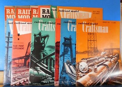 Railroad Model Craftsman Magazine Complete Year 1952 12 issues