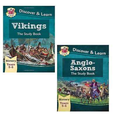 KS2 Discover Learn History the study book Collection by CGP Books 2 books set