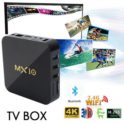 Smart Tv Box Andowl Mx10 Android8.1 4K 4Gb Ram 32Gb/64Gb Rom Iptv Usb3.0 Wifi It