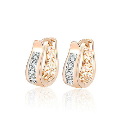 18 k Gold Plated Jewellery Small Baby Girls Hoops Wave First Earrings E1207