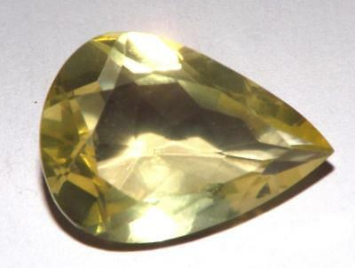 15.40 Ct Lemon Quartz Natural Untreated 22 x 15 mm Pear Shape Gem #dlq718
