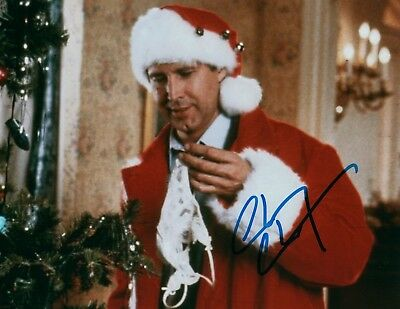 Chevy Chase National Lampoons Christmas Vacation Signed 8x10 Photo w/COA 1