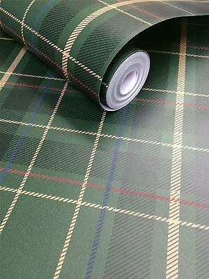 Tartan Check Plaid Wallpaper Paste The Wall Oxford Exclusive Wallcoverings