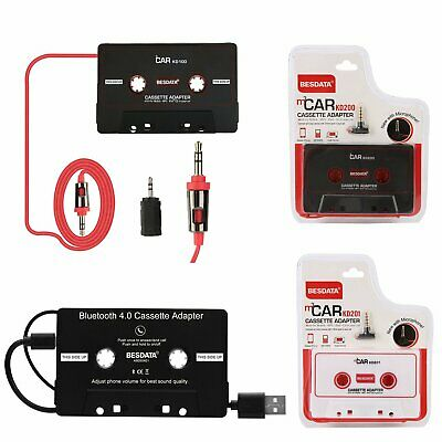Car Cassette Tape Music AUX Audio Adapter Converter For MP3 iPhone iPod Android