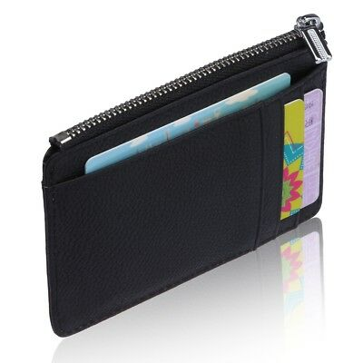 Premium RFID Blocking Sleeves Front Pocket Wallet Secure Card Holder with Zipper