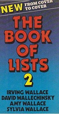 The Book of Lists #2 by Sylvia Wallace Hardback Book The Fast Free Shipping