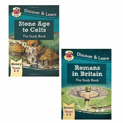 KS2 Discover Learn History Stone Age to Celts Study 3 Books Set By CGP Books NEW