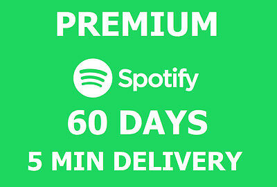 Spotify Premium 60 DAYS / 2 MONTHS - INSTANT DELIVERY / Worldwide / Warranty /