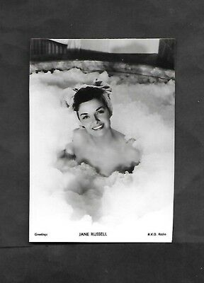 """Greetings 1960 Scarce Large Issue ( Entertainer ) Type Card """"""""  Jane Russell  """""""""""