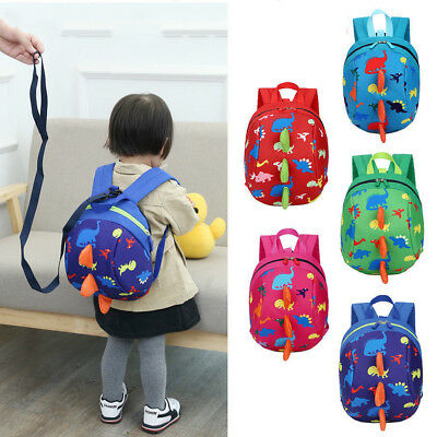 Kids Safety Harness Children Backpack Baby Cartoon Toddler Strap Bag with Reins