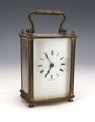 Antique Swiss Made KJB Brass Cased Carriage Clock - Nice!