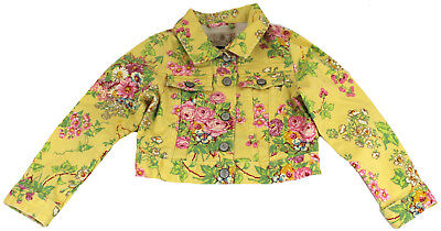 Polo Ralph Lauren girls flower patterned denim yellow jacket 6 years PM47