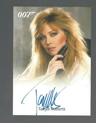 James Bond TANYA ROBERTS as Stacey Sutton Autograph Full Bleed Auto
