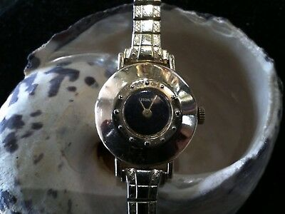 Small 14k yellow gold LeCoultre Watch reenameled face