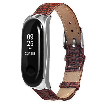 Replacement PU Leather Wrist Strap for Xiaomi Mi Band 3 Smart Bracelet