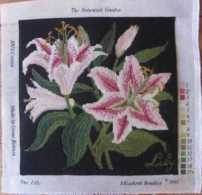 Elizabeth Bradley completed tapestry. The Lily from The Botanical Garden series.