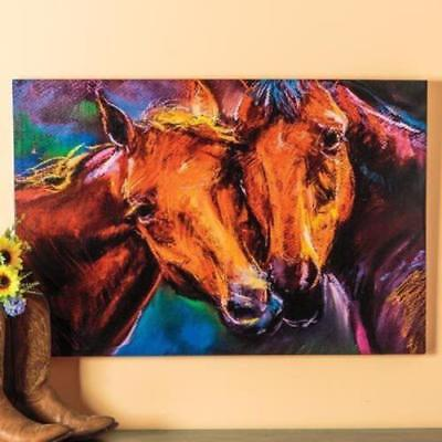LMOP183 100% hand-painted  close two horses decor art OIL PAINTING on CANVAS ART