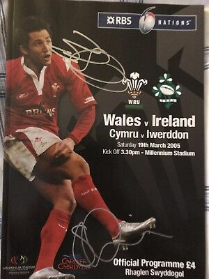 Shane Williams & Brian O'Driscoll Wales V Ireland Signed Grandslam Programme 05