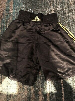 Adidas black/gold boxing shorts Medium. Excellent Condition