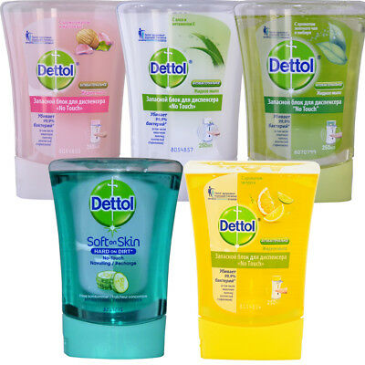 5 x Dettol Mix Package Refill for No-Touch Soap Dispenser, 250ml