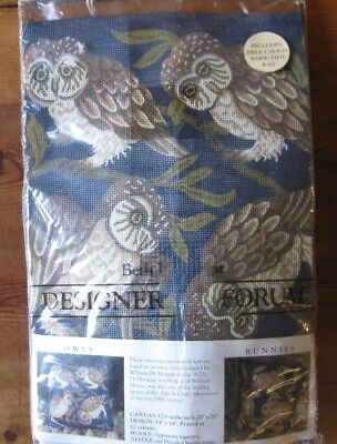 Beth Russell Designers Forum. 'Owls' tapestry kit. Arts and Crafts design.