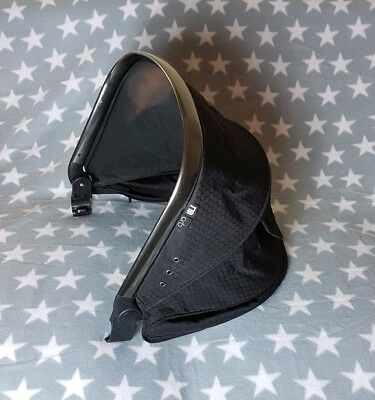 Mothercare Orb Spin Hood Canopy Black for Seat Unit Carrycot - Sun Fading
