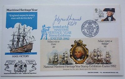 Great Britain Commemorative Cover Maritime Heritage Year 1982 Signed Cover