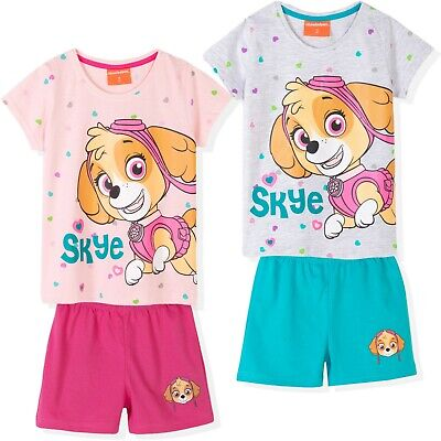 Disney Princess Frozen Girls Short Sleeve Pyjamas Pajamas Set Pjs Nighty 2-8 Yrs