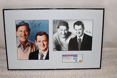 Autographeed Photos os Jack Klugman and Tont Randall The Odd Couple