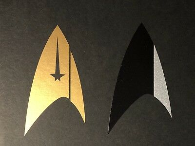 • Star Trek • Discovery Section 31 • Silver & Gold Foil Decals • Prop Replicas •