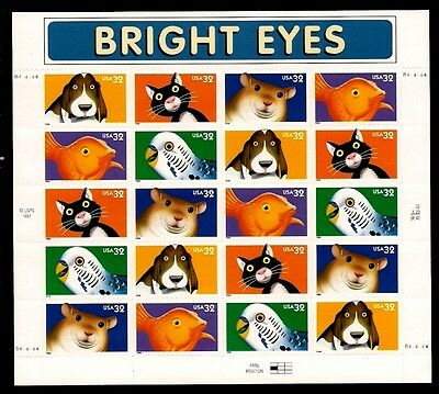 1998 - BRIGHT EYES - #3230-4 Full Mint -MNH- Sheet of 20 Postage Stamps
