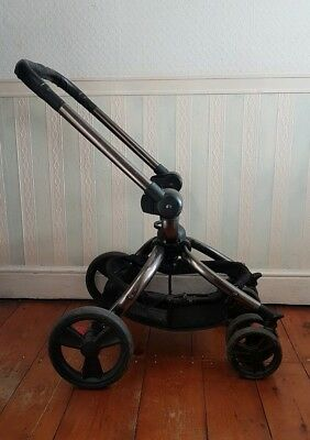 Genuine Mothercare Orb Black Graphite Chassis Pram Frame with Wheels and Basket