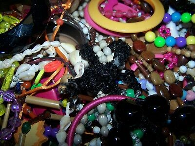 HUGE Vintage to Now Modern Costume Jewelry Lot Lucite Plastic Wood 5 LBS