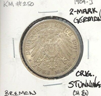 1904-J German 2--Mark ~ Ch/bu Original Stunning! Beautiful Coin