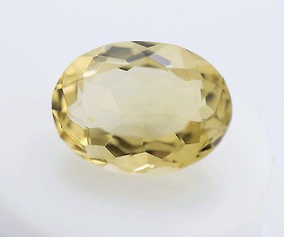 Natural Citrin 24,12ct Yellow Oval Cut DSEF Certificat