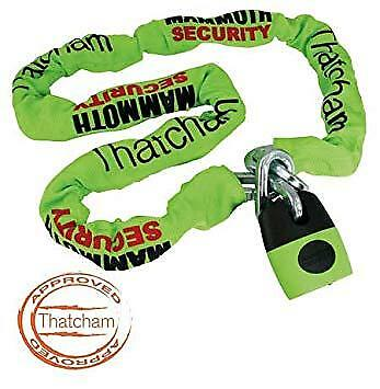 Thatcham Approved Motorcycle Security Mammoth Lock & Chain Length 1.8m (CAT 3)