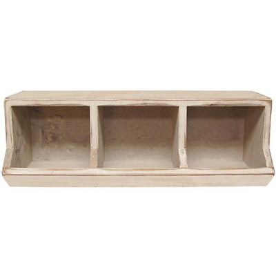 Farmhouse White Wood Country Store Bin
