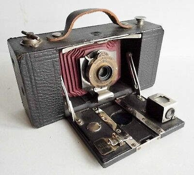 ANTIQUE EASTMAN FOLDING BROWNIE AUTOMATIC CAMERA - EARLY 1900's - ROCHESTER N.Y.