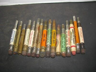 16 National Stock Yards Commisions Bullet Pencils  Different Stock Yards