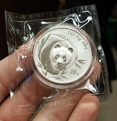2003 China 10 Yuan 1 oz .999 Silver Panda Sealed