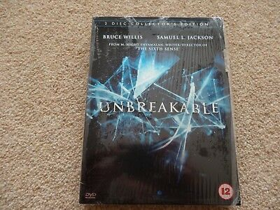 UNBREAKABLE. Bruce Willis / Samuel L. Jackson.  2 Disc Collectors Edition  DVD