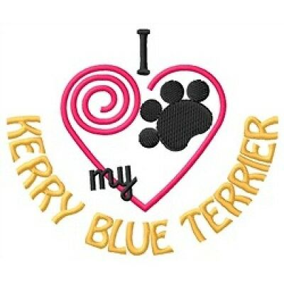 """I """"Heart"""" My Kerry Blue Terrier Zippered Tote 1389-2"""