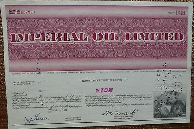 STOCK CERTIFICATE - IMPERIAL OIL LTD.  - Canada - 1971 - Cancelled