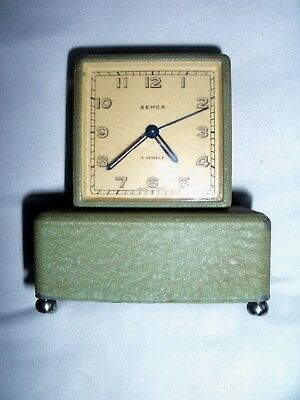 Vintage 4 Jewel Swiss Made Semca  Music Box Alarm Clock