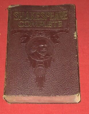 1930 Red Limp Leather Book The Complete Works of William Shakespeare Make Offer